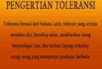 Apa Yang Dimaksud Dengan Toleransi