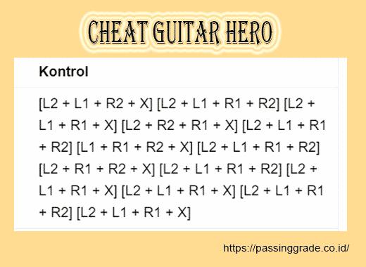 Cheat Guitar Hero