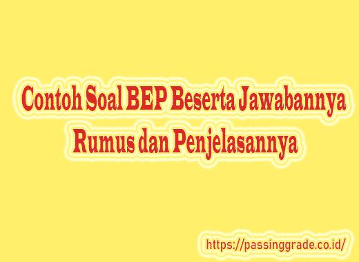 Contoh Soal BEP