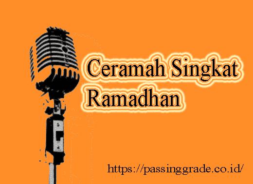 Ceramah Singkat Ramadhan