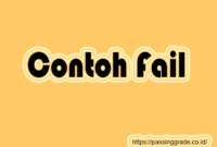 Contoh Fail