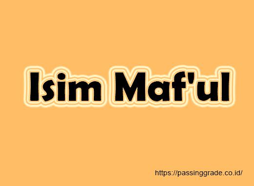 Isim Maf'ul