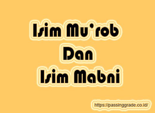 Isim Mu'rob Dan Isim Mabni