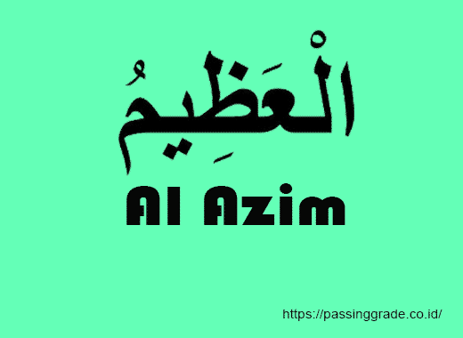 Al Azim Artinya