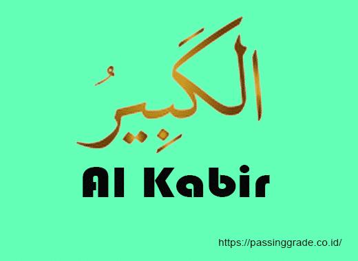 Al Kabir Artinya