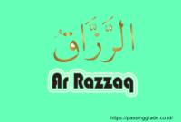 Ar Razzaq Artinya